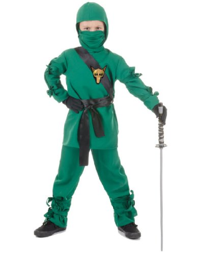 Underwraps Child Ninja Costume, Green, Medium ()