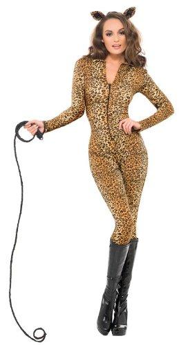 Fever Women's Leopard Print Whiplash Costume (Leopard Costume Sexy)