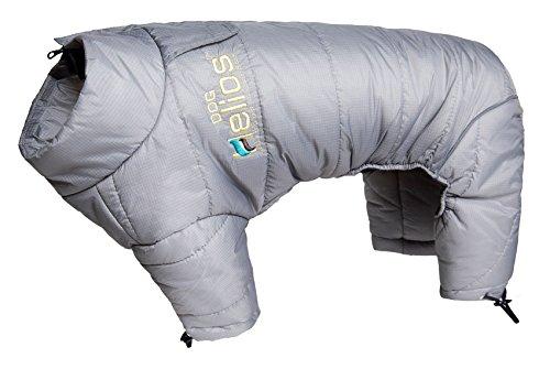 DOGHELIOS 'Thunder-Crackle' Full-Body Bodied Waded-Plush Adjustable and 3M Reflective Pet Dog Jacket Coat w/ Blackshark Technology, Large, Grey by DogHelios