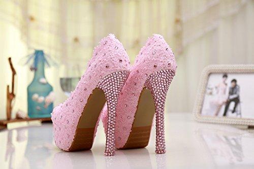 Minitoo , Semelle compensée femme Rose - Pink-14cm Heel