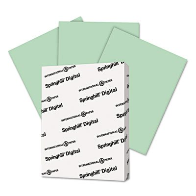 Digital Vellum Bristol Color Cover, 67 lb, 8 1/2 x 11, Green, 250 Sheets/Pack (8 Pack) by Springhill