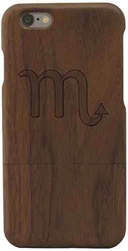Woodero signe astrologique-scorpion bois véritable pour apple iPhone 6