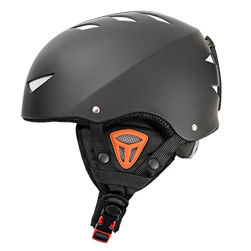 Outer Shell Ski Helmet Convertible Skateboard Helmet with Quick Adjustment Black M
