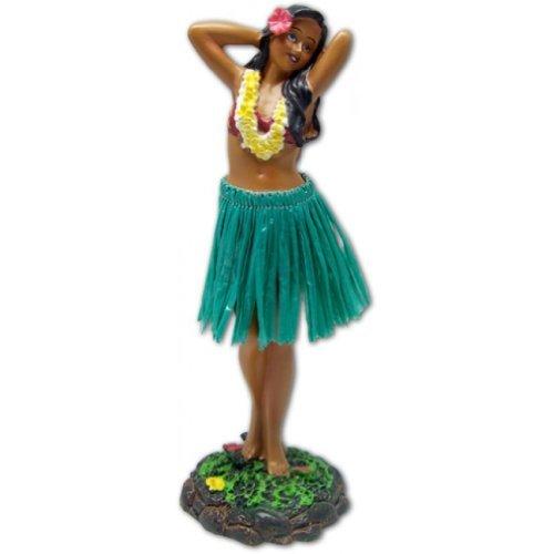 Hawaiian Dashboard Doll Leilani Girl Posing Green