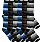 Swan 2191498 Mens Striped Dress Socks44; Size 10 - 13