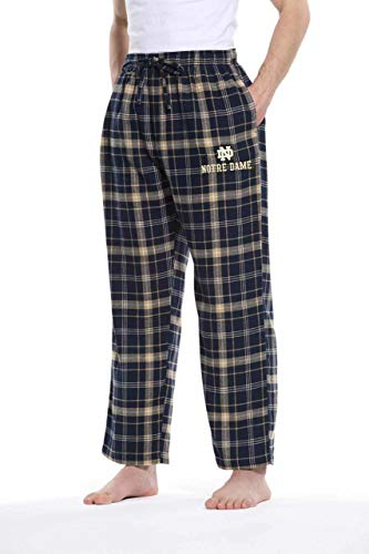 Concept Sport Notre Dame Fighting Irish Adult NCAA Team Pride Flannel Lounge Pants - Navy, Large