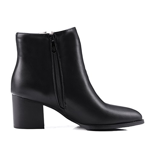 Style Preppy Black AdeeSu Imitated Mule Boots Formal Girls Leather Uq5Ow