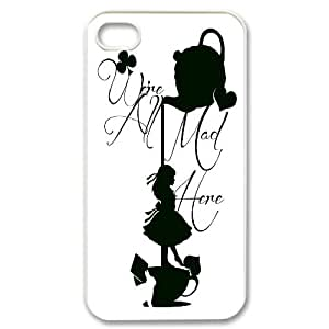 DDOUGS I We are all mad here Best Cell Phone Case for Iphone 4,4S, Custom I We are all mad here Case