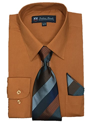 brown dress shirt and tie - 1