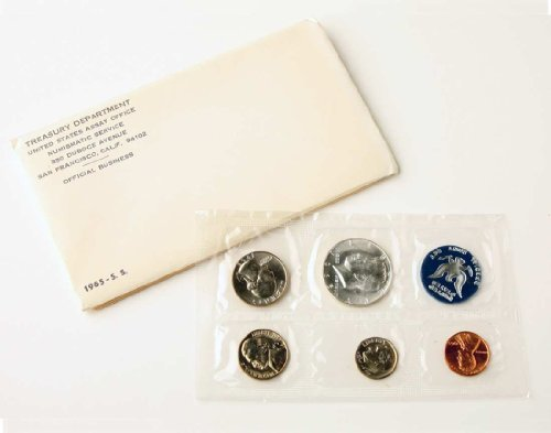 1965 - Special Mint Set 5 Coins-40% Silver Half Dollar Uncirculated