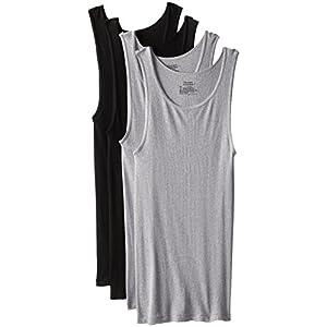 Hanes Comfort Soft Tagless Tanks 4-Pack, Black, Grey, or Black/Grey (Colors May Vary) M