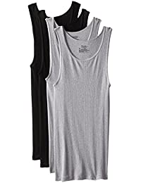 Hanes 4 Pack Comfort Soft Tagless Tank, Black/Grey (Colors May Vary)