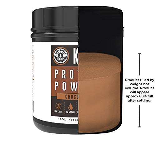 Keto Collagen Protein Powder Chocolate - MCT Powder, Grass-Fed Collagen| 1lb, 25 Servings, No Carb Protein Powder, Low Carb Meal Replacement Shakes, Ketogenic Shake Mix | Left Coast Performance