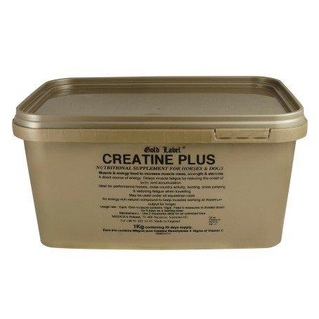 Gold Label Creatine plus 1kg - Natural muscle builder & energy enhancer. Permissible under FEI rules