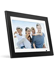 """Aluratek 14"""" LCD Digital Photo Frame with 4GB Built-in Memory with Remote, USB SD/SDHC Support, w/White Matting, 1366 x 768, 16:9 (ADMPF214FB) Black"""