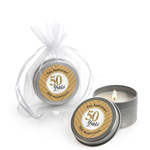 Custom We Still Do - 50th Wedding Anniversary - Personalized Candle Tin Anniversary Party Favors - Set of 12 -