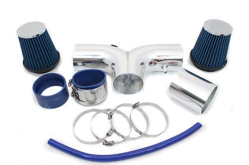 2003 Dodge Ram Hemi - Velocity Concepts Blue Dual Short Ram Air Intake Kit + Filter 04-08 Dodge Ram 1500 Durango 1500 5.7L HEMI V8