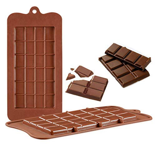 (V-fox Silicone Break-Apart Chocolate, Protein and Energy Bar Molds (Set of 2))