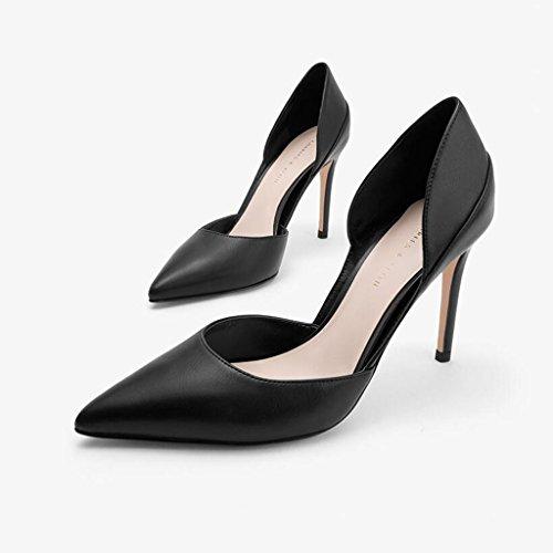De Ceremonia Sandalias Hermoso 1 de Gamuza Boda Zapatos Graduación La Zapatos De Sra Tacón Tacones 5cm Tacón Moda Individuales de Sexy 9 Apuntado XUERUI Stilettos nUpWxAS