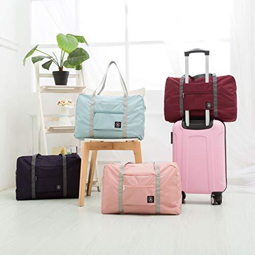 570870dff2d9 FUNFEL Travel Foldable Duffel Bag for Women & Men, Waterproof Lightweight  travel Luggage bag for Sports, Gym, Vacation(II-Mint Green)