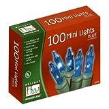 Holiday Wonderland Christmas Light Set - Blue - 100 Mini Lights