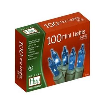 Holiday Wonderland Christmas Light Set, Blue, 100 Mini Lights