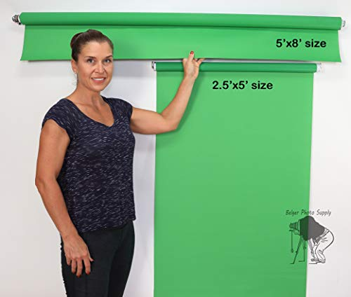 Sale 5'X8' Wall-Mounted White Rollup Background System ID Photos from BelgerPhotography