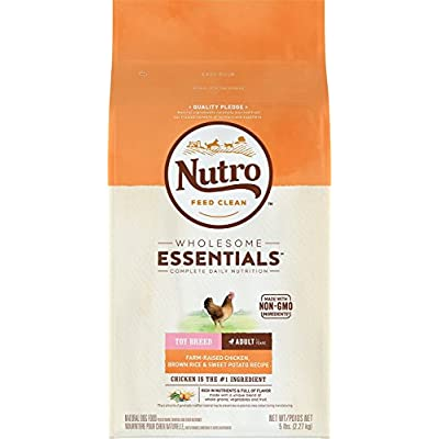 Nutro Toy Breed Adult Dry Dog Food Farm-Raised Chicken, Brown Rice & Sweet Potato Recipe