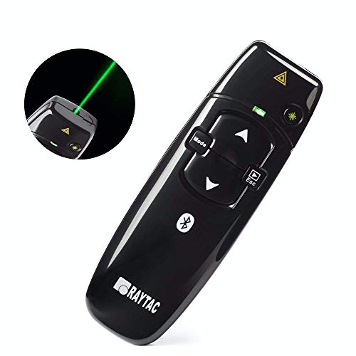 Bluetooth & 2.4GHz Dual Mode Wireless BT Presenter with Green Light PowerPoint Keynote Clicker Remote Control
