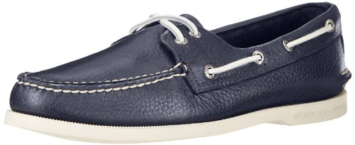 (Sperry Men's Authentic Original 2-Eye Boat Shoe, New Navy, 9.5 M US)