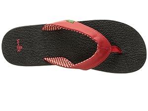 Sanuk Women's Yoga Mat Flip-Flop (8 B(M) US, Bright Red.)