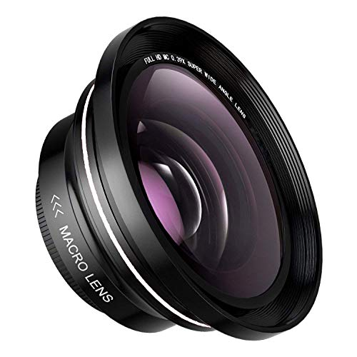 72MM 0.39x FamBrow Professional HD Wide Angle Lens with Macro Portion,Camera Lenses Kit for Digital Video Camera Camcorder
