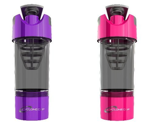 Cyclone Cup Shaker Bottle 20oz - Set of 2 - Purple and Pink