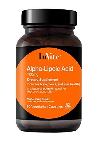 InVite® Health Alpha-Lipoic Acid, 100mg Vegetarian Capsules, 60 Count