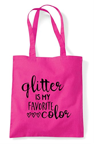 Glitter My Bag Crafty Is Colour Favourite Shopper Statement Fuschia Tote p4qpUrw