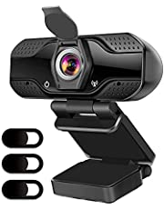 UcaseArt 1080P HD Webcam, USB Computer Camera Plug And Play, With Microphone, Suitable For Video Communication, Conferences, Online Teaching, Game Videos (Black)