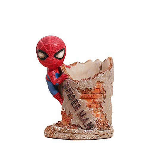 YOURNELO Resin Spider Man Pen Pencil Holder Desk Organizer Accessories (A) -