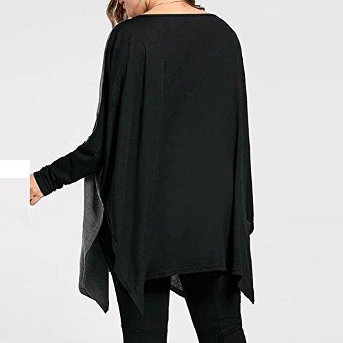 Sunenjoy Mode Femmes Sweat-shirts Sweat à manches longues Blouse Épissage Fente Haut O-cou Chemisier Sans pour autant Collier Jumper Automne Hiver Pull Elegant Haut CasualGrande taille XL-5XL