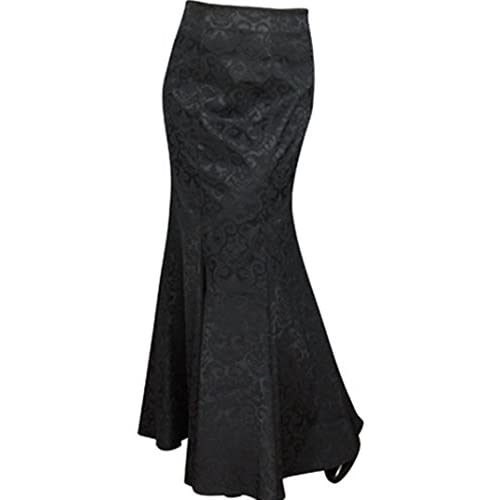 CSDttT XS-XXL Shimmery Queen - Black Back Corset Jacquard Steampunk Gothic Skirt