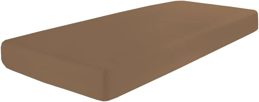 grandezza 90 x 190-100 x  200-220 cm marrone chiaro Dormisette Q371 Lenzuola matrimoniali con angoli jersey elasticizzato con elastan