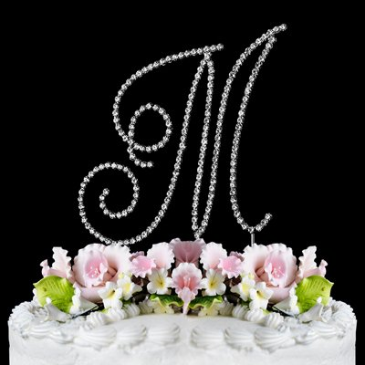 RENAISSANCE MONOGRAM WEDDING CAKE TOPPER LARGE LETTER M