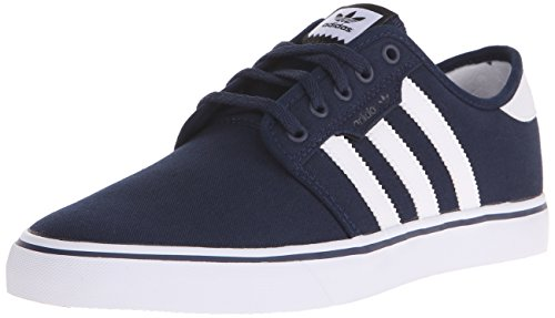 Adidas Men's Seeley Skate Shoe,Collegiate Navy/White/Black,11 M US - Mens Skateboard