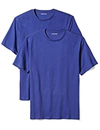 Amazon Essentials Men's 2-Pack Regular-Fit Short-Sleeve Crewneck T-Shirts