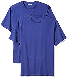 Amazon Essentials Men's 2-Pack Loose-Fit Short-Sleeve Crewneck T-Shirts, Blue, Medium (B06XWLRX9V) | Amazon Products