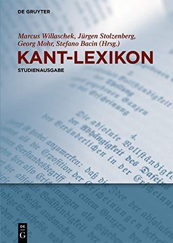 Kant Lexikon  Studienausgabe