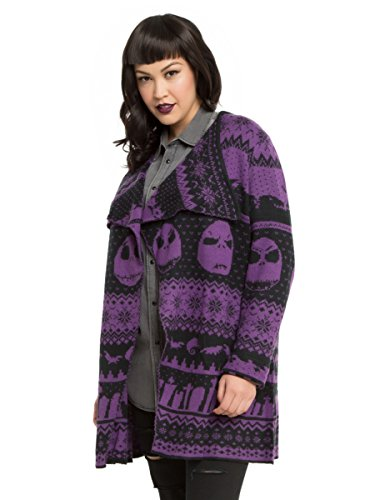The Nightmare Before Christmas Fair Isle Girls Cardigan Plus Size