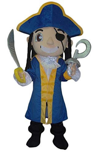 Adult Size Pirate Mascot Costume for Party Carnival Dress Holiday Mascots Deguisement Mascotte