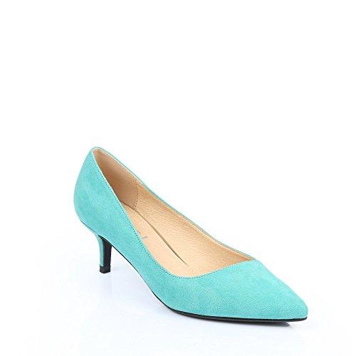 Ideal Shoes Glitzerschuh anzufassen Weich Judit Grün