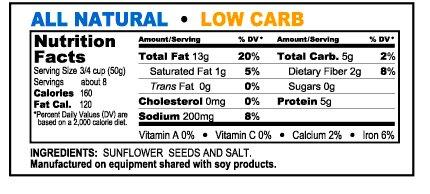 GIANTS Salted Sunflower Seeds (12 - 12 oz. bags)