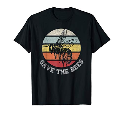 Distressed save the bees lovers shirts for beekeeper tee